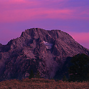 Mount Moran in the Grand Teton range and in Grand Teton National Park, WY.