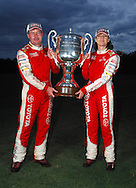 Neal Bates & Coral Taylor with the Possum Bourne Memorial Trophy after winning their 4th Australian Rally Championship.Motorsport-Rally/2008 Coffs Coast Rally.Heat 1.Coffs Harbour, NSW.15th of November 2008.(C) Joel Strickland Photographics
