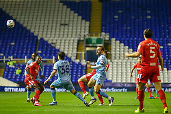Liam Kelly of Coventry City heads the ball forward - Mandatory by-line: Nick Browning/JMP - 20/11/2020 - FOOTBALL - St Andrews - Birmingham, England - Coventry City v Birmingham City - Sky Bet Championship