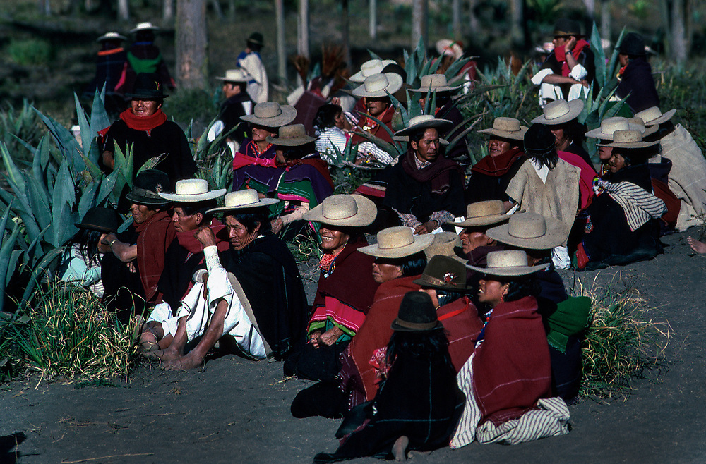 Corpus Christi festival at Salasaca, Ecuador