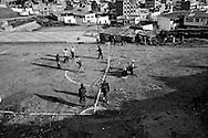 Football is not only football... Copacabana, Bolivia, 09 November 2007.