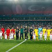 Turkey's and Romania's during their FIFA World Cup 2014 qualifying soccer match Turkey betwen Romania at Sukru Saracoglu stadium in Istanbul october 12, 2012. Photo by TURKPIX