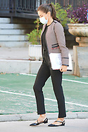 Queen Letizia of Spain attends Working meeting with the Spanish Red Cross at Headquarters of the Spanish Red Cross. on October 1, 2020 in Madrid, Spain