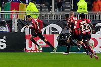 Joie Carlos EDUARDO - 21.03.2015 - Lyon / Nice - 30eme journee de Ligue 1 -<br />Photo : Jean Paul Thomas / Icon Sport