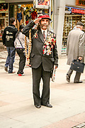 retired soldier with medals, Istanbul, Turkey