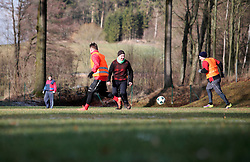 CZECH REPUBLIC VYSOCINA NEDVEZI 31DEC18 - The annual New Year's Eve football match in the village of Nedvezi, Vysocina, Czech Republic. Traditionally, the married men play the bachelors - this year the married team won 6-2.<br /> <br /> <br /> <br /> jre/Photo by Jiri Rezac<br /> <br /> <br /> <br /> © Jiri Rezac 2018