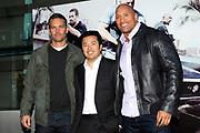 NL Premiere Fast & Furious 5 in de Pathe ArenA Amsterdam.<br /> <br /> Op de foto:<br /> <br />  v.l.n.r. Paul Walker , regisseur Justin Lin en Dwayne Johnson
