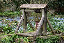 Well in the Delos garden at Sissinghurst Castle