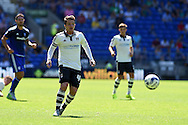 Ross McCormack of Fulham in action. Skybet football league championship match, Cardiff city v Fulham at the Cardiff city stadium in Cardiff, South Wales on Saturday 8th August  2015.<br /> pic by Andrew Orchard, Andrew Orchard sports photography.