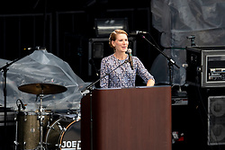 Opening ceremony, Cooper Kristin, First Lady of North Carolina<br /> World Equestrian Games - Tryon 2018<br /> © Hippo Foto - Dirk Caremans<br /> 11/09/2018