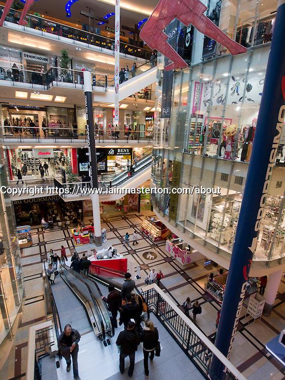 Palladium Shopping Mall in Prague in Czech Republic