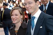 Zijne Hoogheid Prins Floris van Oranje Nassau, van Vollenhoven en mevrouw mr. A.L.A.M. Söhngen zijn zaterdag 22 oktober in de kerk van Naarden in het  huwelijk getreden. De prins is de jongste zoon van Prinses Magriet en Pieter van Vollenhoven.<br /> <br /> Church Wedding Prince Floris and Aimée Söhngen. <br /> <br /> Church Wedding Prince Floris and Aimée Söhngen in Naarden. The Prince is the youngest son of Princess Margriet, Queen Beatrix's sister, and Pieter van Vollenhoven. <br /> <br /> Op de foto / On the photo;<br /> <br /> Zijne Koninklijke Hoogheid Prins Jaime de Bourbon de Parme<br /> <br /> Hare Koninklijke Hoogheid Prinses Carolina de Bourbon de Parme