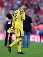 A dejected Tottenham Hotspur goalkeeper Michel Vorm at the end of the FA cup semi-final match at Wembley Stadium, London. Picture date 21st April, 2018. Picture credit should read: Robin Parker/Sportimage