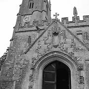 St. James Church Entrance - Avebury, UK - Black & White