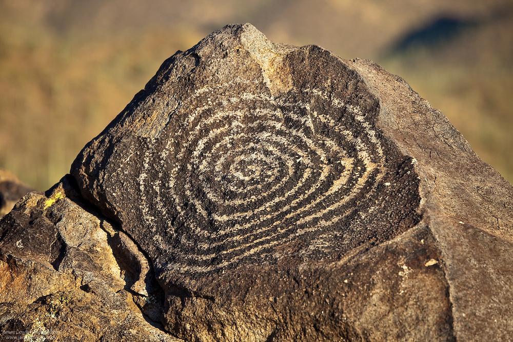 Spriral petroglyph on Signal Hill in Saguaro National Park, Arizona
