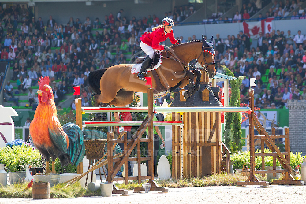 Stefanie Bistan, (AUT), Bogegaardens Apollonia - First Round Team Competition Jumping Speed - Alltech FEI World Equestrian Games™ 2014 - Normandy, France.<br /> © Hippo Foto Team - Leanjo De Koster<br /> 03-09-14