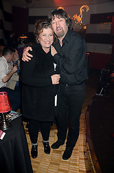 CAROLINE QUENTIN and SIR TREVOR NUNN at a private performance by Frances Ruffelle entitled 'Paris Original' at The Crazy Coqs, Brasserie Zedel, 20 Sherwood Street, London on 8th October 2013.