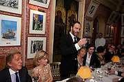 TOM FORD;  Graydon Carter hosts a diner for Tom Ford to celebrate the London premiere of ' A Single Man' Harry's Bar. South Audley St. London. 1 February 2010