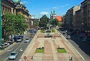 Matejko Square in Cracow, Poland