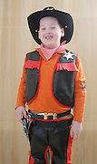 Israel, Purim A young boy of 8 dressed up as a Cowboy Model Release Available