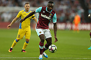 Michail Antonio of West Ham United in action. UEFA Europa league, 3rd qualifying round match, 2nd leg, West Ham Utd v NK Domzale at the London Stadium, Queen Elizabeth Olympic Park in London on Thursday 4th August 2016.<br /> pic by John Patrick Fletcher, Andrew Orchard sports photography.
