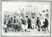 General Association': A trade union meeting represented in an unsympathetic manner in Thomas Maclean's caricatures published London, 1830s.
