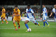 Ellis Harrison gets the ball away for Bristol Rovers. Skybet League two match, Newport county v Bristol Rovers at Rodney Parade in Newport, South Wales on Saturday 17th August 2013. pic by Phil Rees ,Andrew Orchard sports photography,