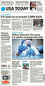 August 19, 2021 - USA: Front-page: Today's Newspapers In United States
