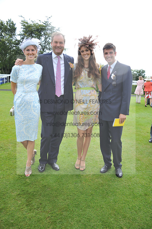 Left to right, SUSANNA WARREN, the HON.HARRY HERBERT his daughter CHLOE HERBERT and JAKE WARREN at the 3rd day of the 2012 Glorious Goodwood racing festival at Goodwood Racecourse, West Sussex on 2nd August 2012.