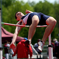 Falconer's Tom Little during the high  jump photo by Mark L. Anderson