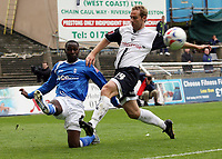 Photo: Paul Thomas.<br /> Preston North End v Birmingham City. Coca Cola Championship. 06/05/2007.<br /> <br /> Andy Cole (L) of Birmingham crosses infront of Liam Chilvers.