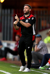 Bristol City head coach Lee Johnson instructs his players from the touchline - Mandatory by-line: Robbie Stephenson/JMP - 23/08/2016 - FOOTBALL - Glanford Park - Scunthorpe, England - Scunthorpe United v Bristol City - EFL Cup second round