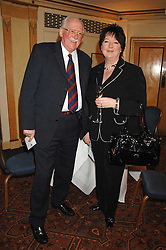Left to right, BILL TIDY and his daughter SYLVIA TIDY-HARRIS at a tribute lunch for Elaine Paige hosted by the Lady Taverners at The Dorchester, Park Lane, London on 13th November 2007.<br />