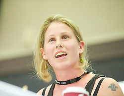 Labour Party Women's Conference 2013<br /> Caroline Criado-Perez a women rights activist during The Labour Party Conference<br /> at the Hilton Metropole Hotel, Brighton, United Kingdom, Saturday, 21st September 2013. Picture by Elliott Franks / i-Images