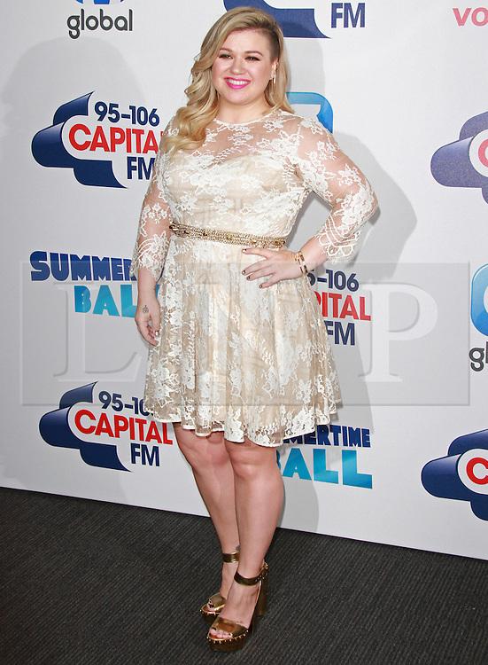 © London News Pictures. Kelly Clarkson, Capital FM Summertime Ball, Wembley Stadium, London UK, 06 June 2015, Photo by Brett D. Cove /LNP