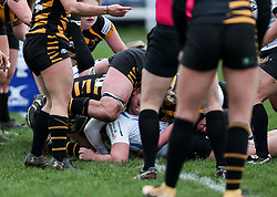 McKinley Hunt of Exeter Chiefs scores a try - Mandatory by-line: Arron Gent/JMP - 06/03/2021 - RUGBY - Twyford Avenue - Acton, England - Wasps FC Ladies v Exeter Chiefs Women - Allianz Premier 15s