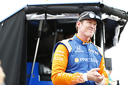 March 10, 2018 - St. Petersburg, Florida, United States of America - March 10, 2018 - St. Petersburg, Florida, USA: Scott Dixon (9) hangs out on pit road after final practice for the Firestone Grand Prix of St. Petersburg at Streets of St. Petersburg in St. Petersburg, Florida. (Credit Image: © Justin R. Noe Asp Inc/ASP via ZUMA Wire)
