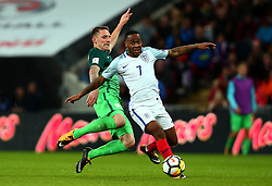 Raheem Sterling of England goes past Rajko Rotman of Slovenia - Mandatory by-line: Robbie Stephenson/JMP - 05/10/2017 - FOOTBALL - Wembley Stadium - London, United Kingdom - England v Slovenia - World Cup qualifier