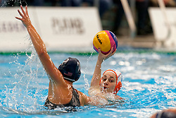 Dagmar Genee #3 of Netherlandsin action during the friendly match Netherlands vs USA on February 19, 2020 in Amerena Amersfoort.