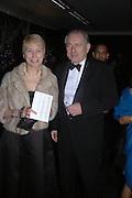 Peter and Virginia  Bottomley. The Black and White Winter Ball. Old Billingsgate. London. 8 February 2006. -DO NOT ARCHIVE-© Copyright Photograph by Dafydd Jones 66 Stockwell Park Rd. London SW9 0DA Tel 020 7733 0108 www.dafjones.com