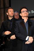 Bono (U2), Chris Martin (Coldplay tijdens uitreiking van de Prins Bernhard Cultuurfonds Prijs 2011