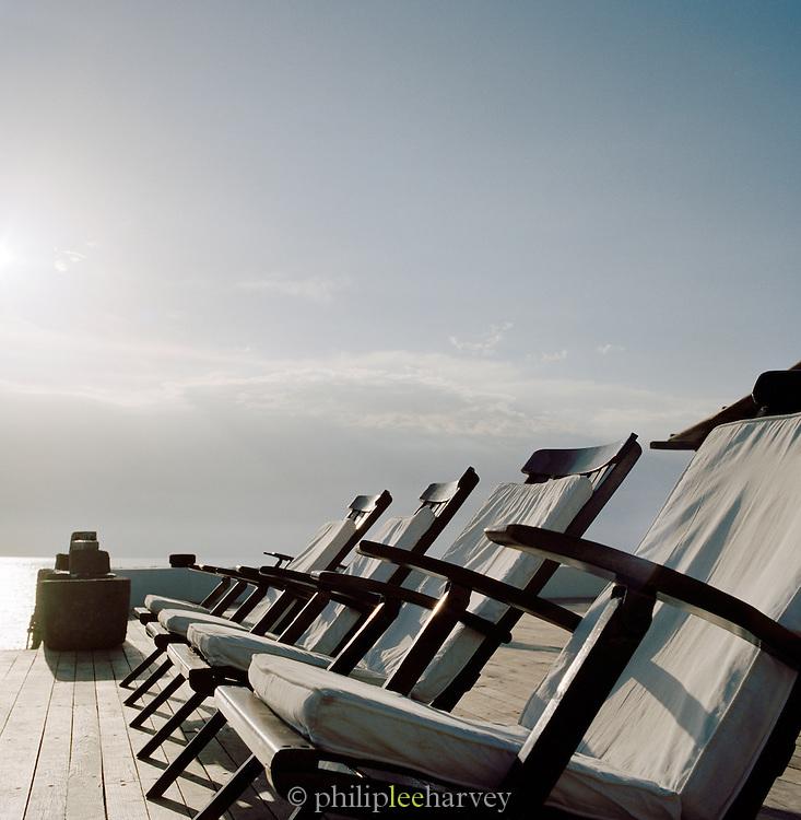 Deckchairs at Hotel Raya, Panarea, Aeolian Islands, Italy