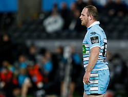 2nd November, Liberty Stadium , Swansea, Wales ; Guinness pro 14's Ospreys Rugby v Glasgow Warriors ;  Nick Grigg<br /> <br /> Credit: Simon King/News Images<br /> <br /> Photographer Simon King/Replay Images<br /> <br /> Guinness PRO14 Round 8 - Ospreys v Glasgow Warriors - Friday 2nd November 2018 - Liberty Stadium - Swansea<br /> <br /> World Copyright © Replay Images . All rights reserved. info@replayimages.co.uk - http://replayimages.co.uk