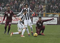 February 18, 2018 - Turin, Italy - Miralem Pjanic during the Serie A match between Torino FC and Juventus at Stadio Olimpico di Torino on February 18, 2018 in Turin, Italy. (Credit Image: © Loris Roselli/NurPhoto via ZUMA Press)