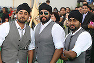 RDB (Rhythm Dhol and Bass) Indian DJs Kuly, Manj and Surj Singh arriving at the International Indian Film Academy Awards (IIFA) ceremony at the Hallam Arena in Sheffield for the annual IIFA awards. The awards were known as the 'Bollywood Oscars' and ran from 7-10th June. They were watched by an estimated global television audience 500 million people.