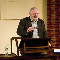 Terry Eagleton<br /> On stage at the Stoke Newington Literary Festival. 18 September 2010<br /> <br /> Picture by David X Green/Writer Pictures