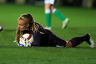 Grace Moloney, the Rep of Ireland goalkeeper in action.  Friendly International Womens football, Wales Women v Republic of Ireland Women at Rodney Parade in Newport, South Wales on Friday 19th August 2016.<br /> pic by Andrew Orchard, Andrew Orchard sports photography.