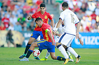 Spain's Carlos Soler (l) and Dani Ceballos (c) and Italy's Orsolini during international sub 21 friendly match. September 1,2017.(ALTERPHOTOS/Acero)