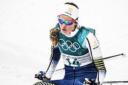 February 13, 2018 - Stockholm, Sweden - OS 2018 i Pyeongchang. Sprint, damer. Anna Dyvik, längdskidÃ¥kare Sverige, tävling action landslaget (Credit Image: © Orre Pontus/Aftonbladet/IBL via ZUMA Wire)