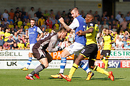 Sheffield Wednesday goalkeeper Joe Wildsmith (28) collects the ball during the EFL Sky Bet Championship match between Burton Albion and Sheffield Wednesday at the Pirelli Stadium, Burton upon Trent, England on 26 August 2017. Photo by Richard Holmes.
